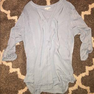 Pleione casual dressy 3/4 sleeve top sz M